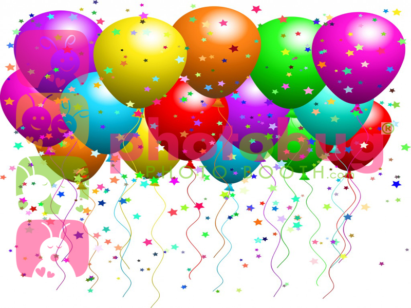 Virtual Backgrounds Balloons-celebration – Photobug Photo Booth Rental