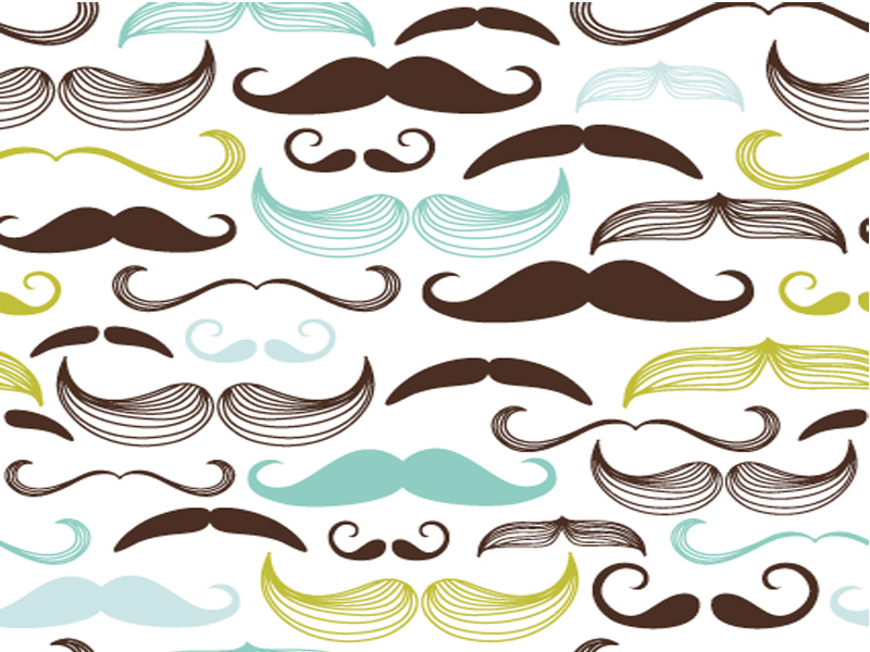 rainbow-mustache-background